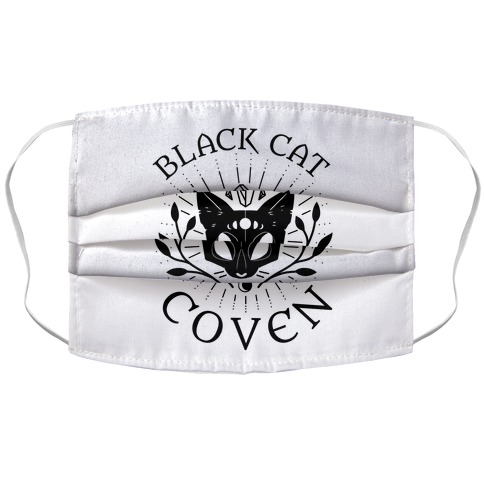 Black Cat Coven Accordion Face Mask