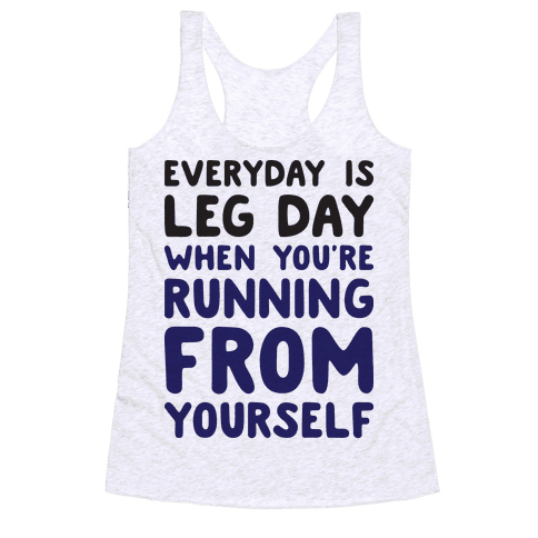 Running From Yourself Racerback Tank Top