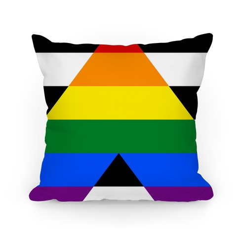 Ally Pride Flag Pillow
