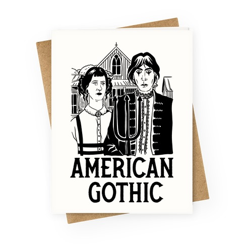 American Gothic Mall Goths Greeting Card