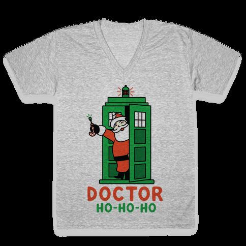 Doctor Ho-Ho-Ho V-Neck Tee Shirt