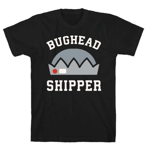 Bughead Shipper White Print Mens T-Shirt