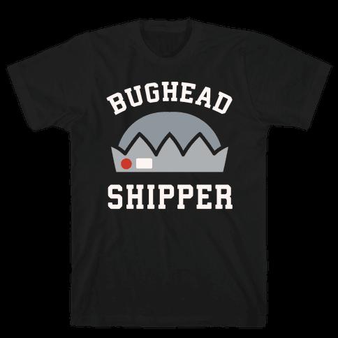 Bughead Shipper White Print Mens T-Shirt