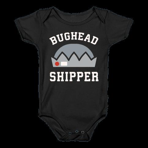 Bughead Shipper White Print Baby Onesy