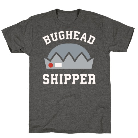 Bughead Shipper White Print T-Shirt