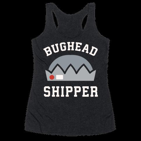 Bughead Shipper White Print Racerback Tank Top