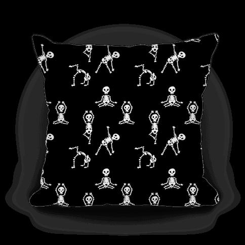 Skele-Zen Pattern Pillow