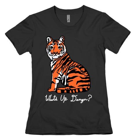 What's Up Danger Tiger Womens T-Shirt