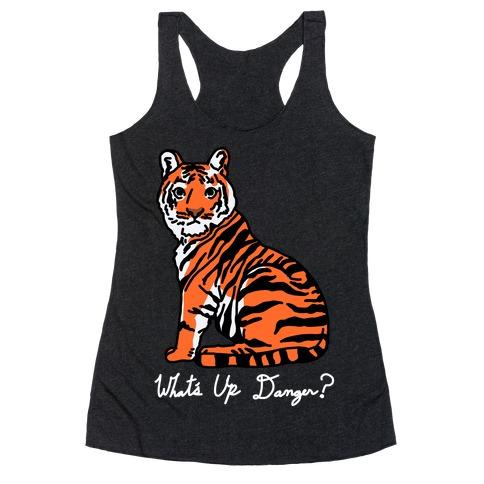What's Up Danger Tiger Racerback Tank Top