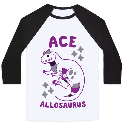 Ace Allosaurus  Baseball Tee