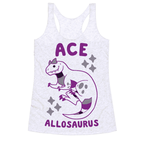 Ace Allosaurus  Racerback Tank Top