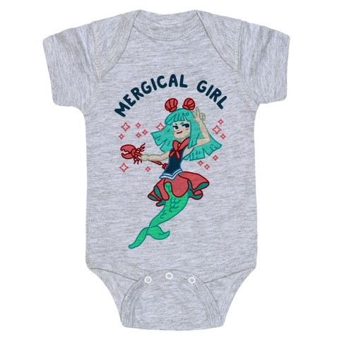 Mergical Girl Baby Onesy