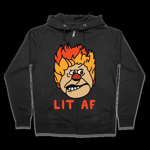 Lit AF Heat Miser Zip Hoodie