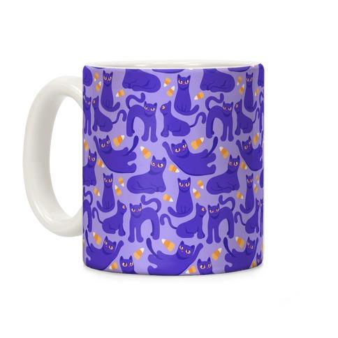 Cats And Candy Corn Pattern Coffee Mug