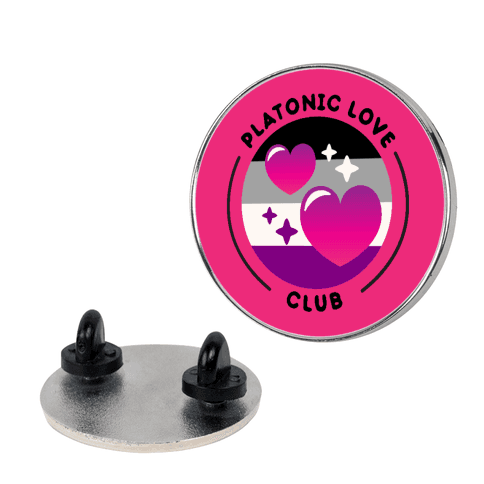 Platonic Love Club Patch Pin