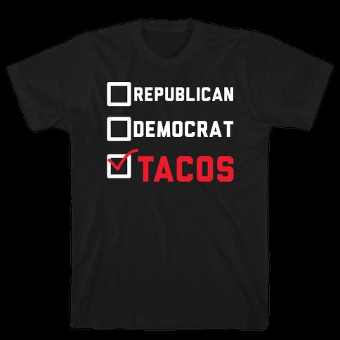 Republican Democrat Tacos Mens T-Shirt