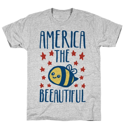 America The Beeautiful Bumble Bee 'Merica Parody T-Shirt