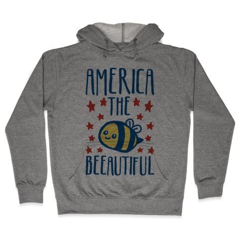 America The Beeautiful Bumble Bee 'Merica Parody Hooded Sweatshirt