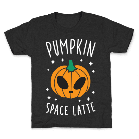 Pumpkin Space Latte (White) Kids T-Shirt