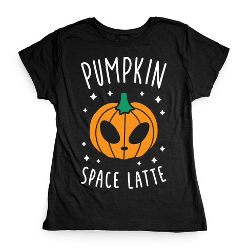 Pumpkin Space Latte (White) Womens T-Shirt