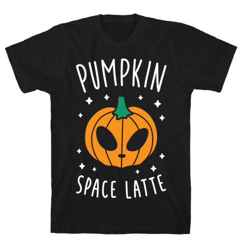 Pumpkin Space Latte (White) Mens T-Shirt
