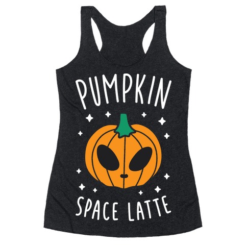 Pumpkin Space Latte (White) Racerback Tank Top