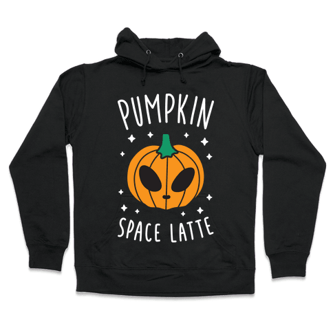 Pumpkin Space Latte (White) Hooded Sweatshirt
