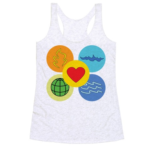With our powers combined... Racerback Tank Top