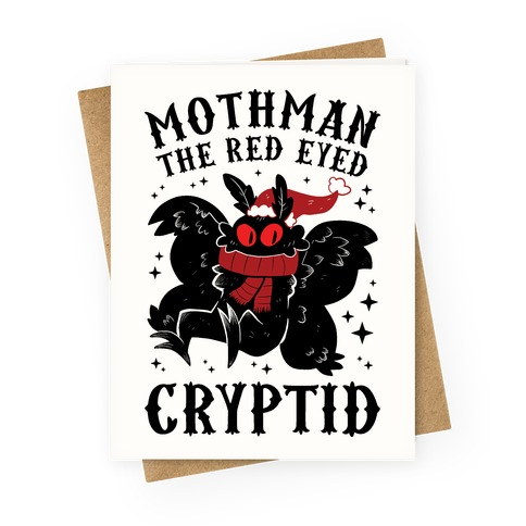 Mothman The Red Eyed Cryptid Greeting Card