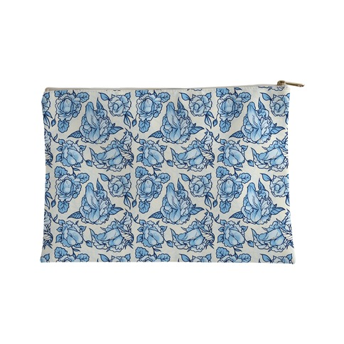 Floral Penis Pattern Accessory Bag