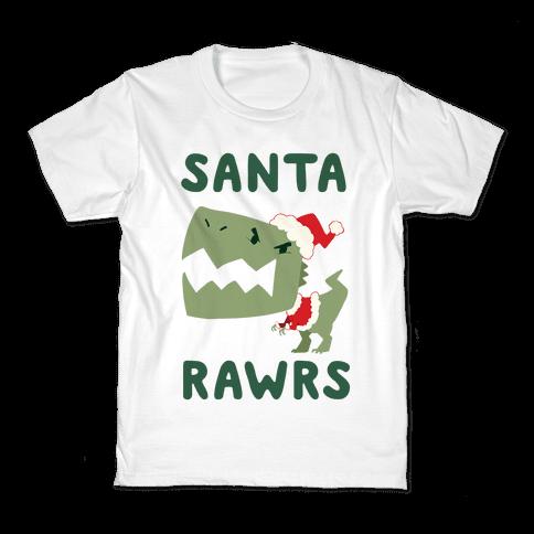 Santa RAWRS! Kids T-Shirt