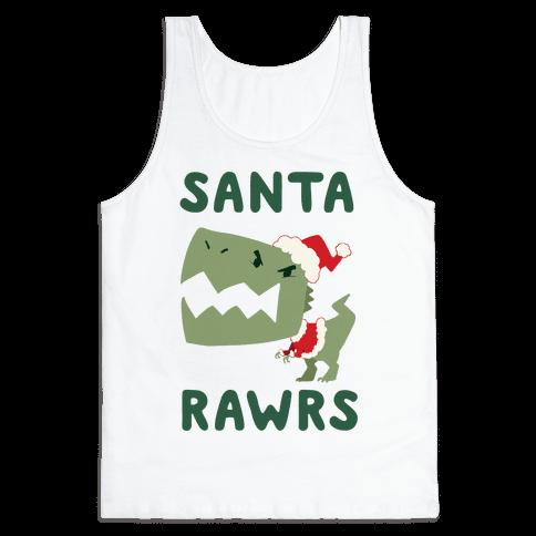 Santa RAWRS! Tank Top