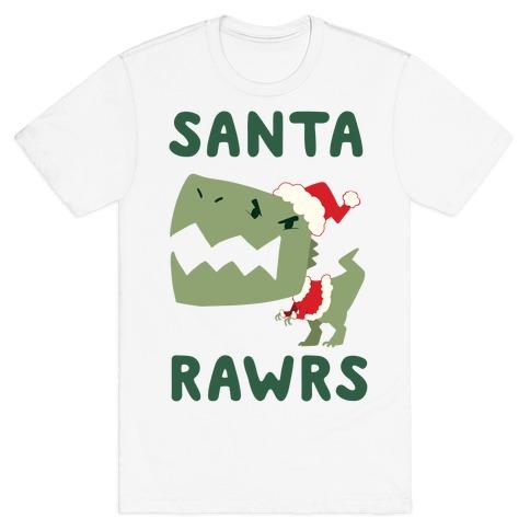 Santa RAWRS! Mens/Unisex T-Shirt