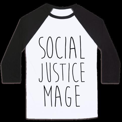 Social Justice Mage Baseball Tee