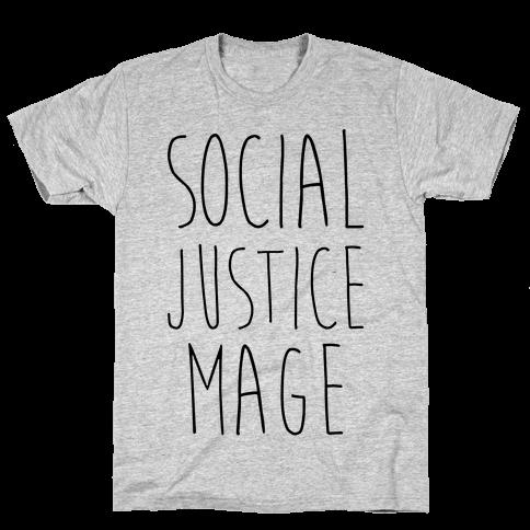 Social Justice Mage Mens T-Shirt