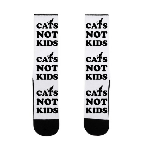 Cats Not Kids Sock