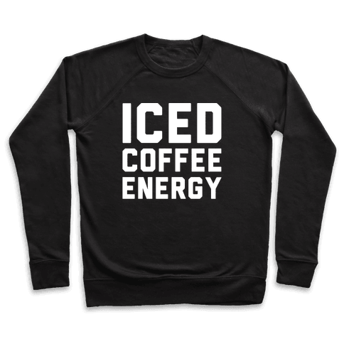 Iced Coffee Energy White Print Pullover