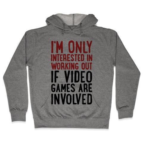 Video Game Workout Hooded Sweatshirt