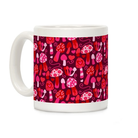 Valentine's Day Mushrooms Pattern Coffee Mug