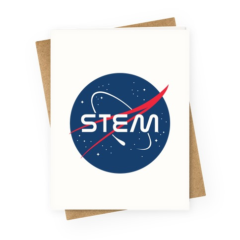 STEM NASA Parody Greeting Card