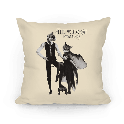 Fleetwood Cat Mewmours Mashup Pillow