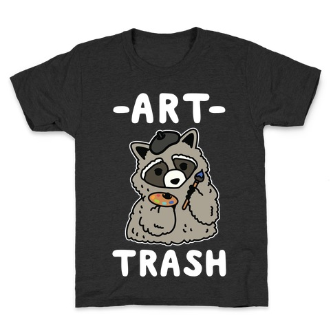 Art Trash Raccoon Kids T-Shirt