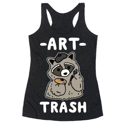 Art Trash Raccoon Racerback Tank Top