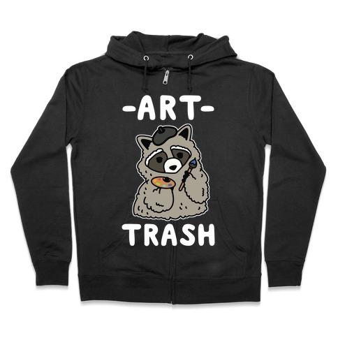 Art Trash Raccoon Zip Hoodie