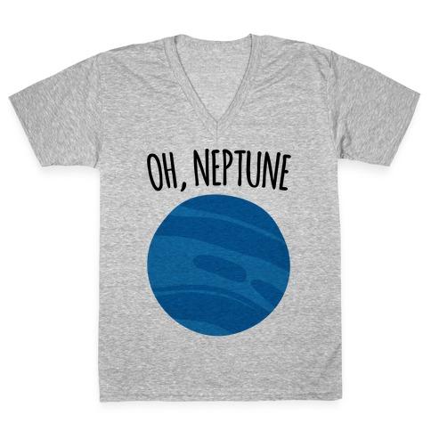 Oh Neptune V-Neck Tee Shirt