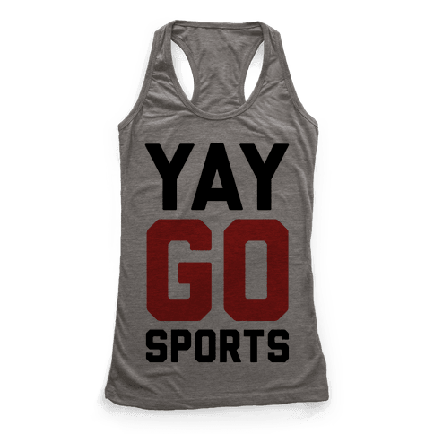 YAY GO SPORTS Racerback Tank Top