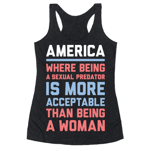Being A Woman In America Racerback Tank Top