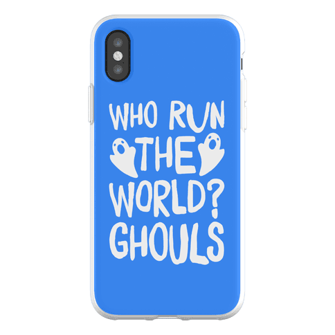 Who Run The Word Ghouls Parody Phone Flexi-Case
