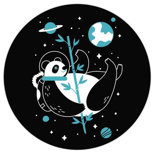 Space Panda Die Cut Sticker