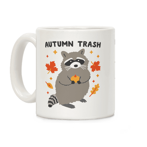 Autumn Trash Raccoon Coffee Mug